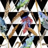 Картина пера птицы акварели от крыла