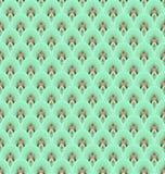 Картина пера Teal безшовная иллюстрация штока