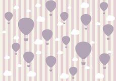 Картина перемещения воздушных шаров и облаков Обои для девушек стоковые фотографии rf