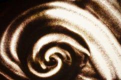 Картина песка Абстрактная ручной работы предпосылка Анимация песка Картина песка на светящей таблице Стоковая Фотография RF