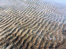 Картина песка и воды весной Стоковое Изображение RF