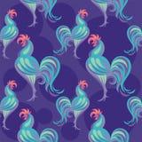 Картина петуха безшовная Стоковые Фото