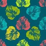 Картина печати покрашенная листьями Стоковые Фотографии RF