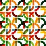Картина печати яркая геометрических форм Стоковые Изображения RF
