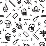 Картина пива геометрическая Стоковое Изображение