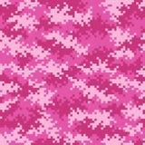 Картина пиксела камуфлирования в пинке плавно tileable иллюстрация штока