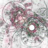 Картина пинка и фрактали Стоковая Фотография RF
