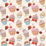 Картина пирожных красочная безшовная Стоковое Изображение