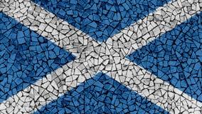 Картина плиток мозаики флага Шотландии стоковое изображение