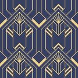 Картина плиток deco абстрактного искусства безшовная современная иллюстрация вектора