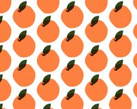 Картина плодоовощ безшовная от апельсинов Стоковое Изображение RF