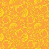 картина плодоовощ безшовная Стоковое фото RF