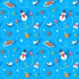 Картина плоского вектора зимних отдыхов безшовная бесплатная иллюстрация