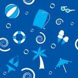картина пляжа безшовная бесплатная иллюстрация