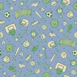 Картина поверхности Doodle вещей шариков спорт Предпосылка вектора Стоковое фото RF