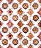 Картина повторения акварели восточная с геометрическими элементами бесплатная иллюстрация