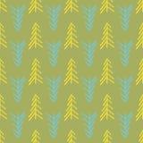 Картина повторения зеленого шевронного дерева безшовная бесплатная иллюстрация