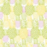 Картина повторения текстуры ананаса вектора красочная Соответствующий для обруча, ткани и обоев подарка иллюстрация вектора