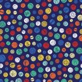 Картина повторения текстуры точек польки вектора голубая красочная Соответствующий для обруча, ткани и обоев подарка иллюстрация штока