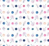 Картина повторения ягод и точек акварели красочная бесплатная иллюстрация