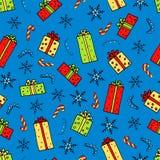 Картина подарков рождества бесплатная иллюстрация