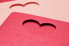 Картина поздравительной открытки сердца для валентинки и симпатичный Стоковое Фото