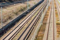 Картина покрашенная железной дорогой Стоковая Фотография