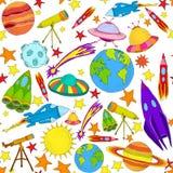 Картина покрашенная космосом безшовная Стоковые Фотографии RF