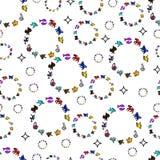 Картина покрашенных кругов Знаки зодиака иконы бесплатная иллюстрация