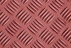 Картина пола металла красного цвета Стоковая Фотография