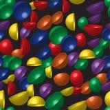 Картина полусфер радуги безшовная Стоковая Фотография
