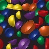 Картина полусфер радуги безшовная Стоковое Изображение RF