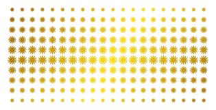 Картина полутонового изображения золота Солнця иллюстрация вектора