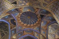 Картина потолок мавзолея Aksaray в городе Самарканда, Узбекистане Стоковая Фотография RF
