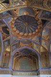 Картина потолок мавзолея Aksaray в городе Самарканда, Узбекистане Стоковое Фото