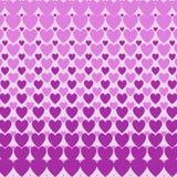 Картина полутонового изображения сердец Стоковое фото RF