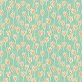 Картина поля тюльпана безшовная Стоковая Фотография RF