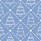 Картина праздников зимы безшовная Бесплатная Иллюстрация