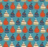 Картина праздника безшовная с мешками подарков Стоковое Изображение