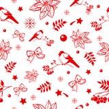 Картина предпосылки рождества и Нового Года безшовная зима темы праздников украшения сладостная Стоковые Изображения RF