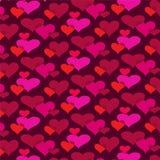 Картина предпосылки сердец Mod перекрывая Стоковые Изображения