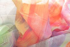 Картина предпосылки текстуры Silk тонкая ткань, абстрактная картина o Стоковое Фото