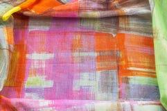 Картина предпосылки текстуры Silk тонкая ткань, абстрактная картина o Стоковое фото RF