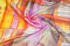 Картина предпосылки текстуры Silk тонкая ткань, абстрактная картина o Стоковые Изображения RF