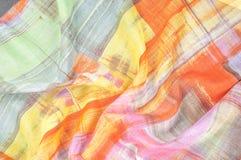 Картина предпосылки текстуры Silk тонкая ткань, абстрактная картина o Стоковая Фотография