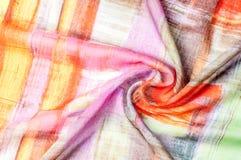 Картина предпосылки текстуры Silk тонкая ткань, абстрактная картина o Стоковая Фотография RF