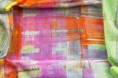 Картина предпосылки текстуры Silk тонкая ткань, абстрактная картина o Стоковое Изображение RF