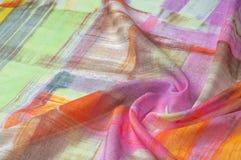 Картина предпосылки текстуры Silk тонкая ткань, абстрактная картина o Стоковые Фото