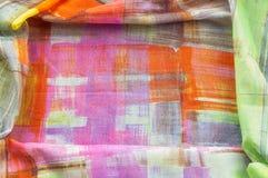 Картина предпосылки текстуры Silk тонкая ткань, абстрактная картина o Стоковое Изображение
