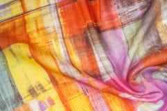 Картина предпосылки текстуры Silk тонкая ткань, абстрактная картина o Стоковые Изображения